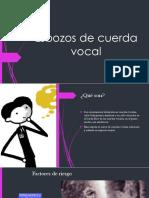 Esbozos de Cuerda Vocal