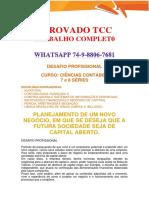 Anhanguera Empresa Ciências Contábeis 7 e 8 Semestre
