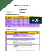 Analisis Alokasi Waktu Qh 8 k13