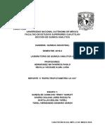 q.a.iii.Reporte Espectrofotometria Uv-Vis