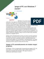 Cómo Se Apaga El PC Con Windows 7 Automáticamente