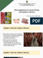 3ra Clase-Microorganismos en Carnes Frescas, Procesadas y Mariscos