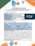 Guía de Actividades y Rubrica de Evaluación - Tarea 2 - Apropiar Los Conceptos de La Unidad No. 1 Fundamentos Económicos