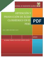 152864115 Obtencion y Produccion de Acido Clorhidrico en El Peru Docx