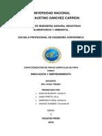 Caracterización y Sustentabilidad de La Papa