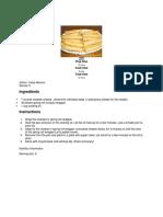Bar Recipe