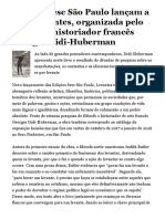 Edições Sesc São Paulo lançam a obra Levantes, organizada pelo filósofo e historiador francês Georges Didi-Huberman