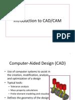 Chapter 1 - Intro Cadcam