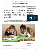 Arrancaron Juntos Primer Grado y Uno Le Lleva Al Otro 2 Cuadernos de Ventaja - 18-03-2017 - Clarín.com