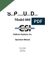 SPUD 604 Manual
