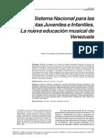 El sistema nacional para las orquestras juveniles e infantiles. La nueva educacion musical de Venezuela.pdf