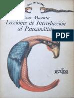 Lecciones de Introducción Al Psicoanálisis -Oscar Masotta