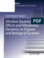 [Springer Theses] Morgan, Sarah Elizabeth - Ultrafast Quantum Effects and Vibrational Dynamics in Organic and Biological Systems (2017, Springer)