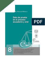 Datos de Prueba en El Proceso Acusatorio y Oral - Jose Daniel Hidalgo Murillo
