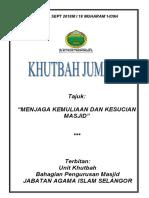 28.09.2018 (Rumi) Menjaga Kemuliaan Dan Kesucian Masjid
