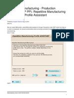 SAP PP REM Profile Assistance