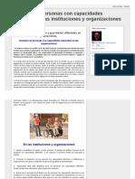 Inclusión de Personas Con Capacidades Diferentes en Las Instituciones y Organizaciones