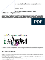Inclusión de Personas Con Capacidades Diferentes en Las Instituciones y Organizaciones – Mercedesnamuche