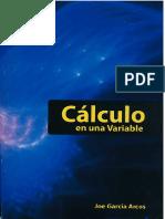 Libro Cálculo en Una Variable - Joe Garcia