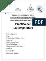 Calculo de La Media de La Temperatura Interior y Exterior