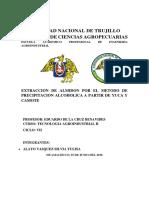 Extraccion de Almidon Informe