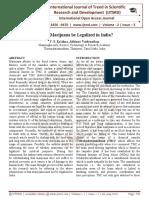 Should Marijuana be Legalized in India?