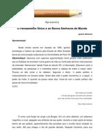 Ignacio Ramonet - O pensamento único e os novos senhores do mundo