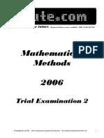 Itute 2006 Mathematical Methods Examination 2