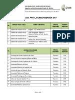 Programa Anual de Fiscalización 2017