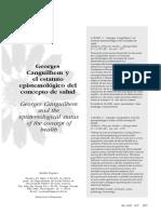 George Canguilhem El Estatuto Epistemológico Del Concepto de Salud