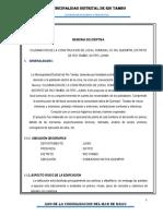 Memoria Descriptiva Construccion de Local Comunal Cc.nn. Quempiri, Distrito de Rio Tambo, Satipo -Junin