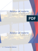 [BME] Unidad II - Balance de Masa Con Reacción Química