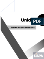 Textos orales formales