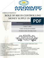 Role of Rbi in Controlling Money Supply in India