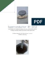 Superconductor Bi-2212