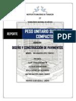 Reporte -Peso Unitario Suelto y Compacto-dycp