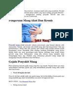 Bagaimana Cara mengobati lambung maag kronis