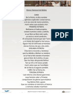 Himno de la República de Bolivia