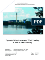 Dynamic Behaviour Under Wind Loading of Steel Chimney