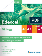 AS/A2 Student Unit Revision Guide Edexcel Biology Unit 3 and Unit 6