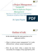 An Introduction of Software Project Management