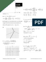 Itute 2009 Mathematical Methods Examination 1 Solutions