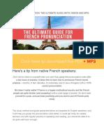 French Pronounciation