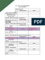 To-Do-List Assignment SEM II