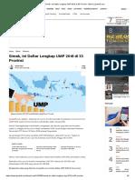 Daftar Lengkap UMP 2018 Di 33 Provinsi