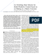 [49] Multiobjective Switching State Selector for Finite States Model Predictive Control Based on Fuzzy Decision Making in a Matrix Converter