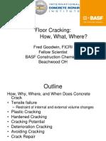 Floor cracking