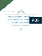Peran Sistem Informasi Dan Teknologi Informasi Dalam Organisasi