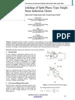 Non Linear Modeling of Split Phase Type Single Phase Induction Motor