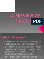 A Preview of Language